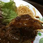 お食事ショップ やまにし - トンカツ 今日のは厚め(^o^)