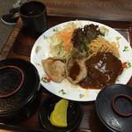 お食事ショップ やまにし - 生姜焼き、ハンバーグ定食