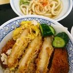 どんどん庵 - かつ丼とうどん(小)セット690円