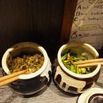 神虎 - 高菜と辛いニラと紅ショウガは無料です。