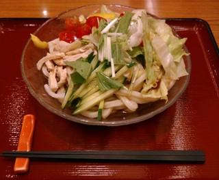 杵屋 京都パセオダイゴロー店 - 七種の野菜のサラダうどん