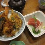 55388236 - 天丼(大盛り)とお刺身