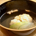 日本料理 ちくま庵 - 鱧の焼霜包み