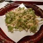 はしもと - 真鯛と水菜のかき揚げ