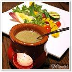 55397479 - 生野菜、焼き野菜、蒸し野菜の菜園風バーニャカウダ(3人盛り)