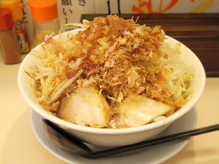 笑福 米子両三柳店 - 2016年8月 味噌ラーメン(680円)野菜ましまし、アブラ