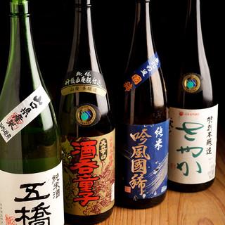 こだわりの厳選日本酒と宮崎焼酎