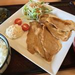 レストラン ポロ - 生姜焼き定食 800円