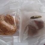 あびさぁべ - チョコシューと豆腐シュークリーム(各180円)