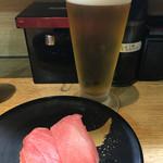 回転寿司日本一 - マグロ☆アサヒビール