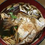 回転寿司日本一 - 魚のアラの 赤出汁☆