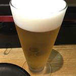 回転寿司日本一 - 生小ビール☆アサヒ サービス108円☆小さいけどnice☆ 最初の1杯のみでっせ