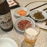 故郷味 - 瓶ビール中瓶(580円)