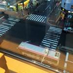 京都 瓢喜 - 眼下には駅前の大通り