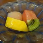 祇園もりわき - ☆デザートは4種類の果物(^o^)/☆