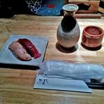 55417583 - 「お通し」と「日本酒 立山」