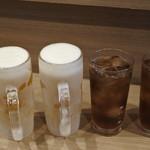 酒処 そのべ - 生ビールとウーロン茶