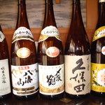 三国寿司 - 内観写真:久保田、八海山など新潟のお酒をリーズナブルな価格でご提供