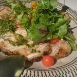 ディアンドデパートメント フクオカ - 骨付糸島豚のグリルとグリル野菜