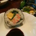 幸村 - 料理写真:特製かに太巻き