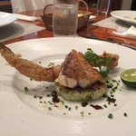 小林食堂 - 真鯛のソテーと穴子のフリット