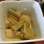 菜心味庵 きた岡 - 菜心味定食(1500円)♪ 山菜の煮物はイタドリで、スカンポとか言うんだけど和歌山ではゴンパチっていうのかな?上手いこと作ってて食感も良く美味しかった!