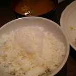 55436682 - 定食のご飯と味噌汁
