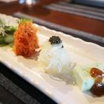 きた川 - 季節野菜の彩り前菜