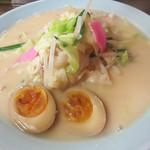 中華料理 旬 - 長崎ちゃんぽん730円+煮玉子100円。 ボリュームたっぷりです。