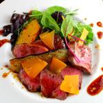 カフェ・ア・ラ・ティエンヌ - 和牛イチボのタリアータ 季節野菜添え