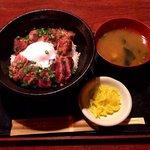 北の味紀行と地酒 北海道 - ステーキ丼(2016.8)