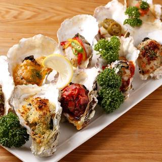 ローストオイスター全10種類★この素材と牡蠣?合うんです!