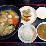 ラーメンとやの - 料理写真:炒麺 & 本日の小丼(2016年8月)