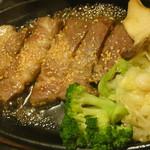 55458138 - 黒豚肩ロース鉄板焼きステーキ