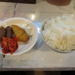 韓食 班家 - おかず三品とごはん