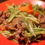 BACKPACKER'S CAFE 旅人食堂 - 羊肉の香菜炒め