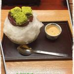 梅園 - 志るこ氷・抹茶わらび餅+きな粉トッピング