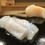 日本橋蛎殻町 すぎた - 2016/8_平目とつぶ貝