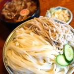 一升や - 肉汁そば・うどん あい盛り 2016.08.28