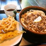 ぎやてい - 料理写真:肉ぶっかけ & 天ぷら3種盛り