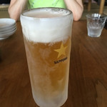 あおぞら銭函3丁め - キンキンに冷えた生ビール