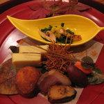 天ぷら割烹 うさぎ - 季節の前菜盛り合わせ
