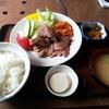 山水 - 料理写真:生姜焼き定食850円
