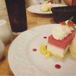 フタツボシ カフェ - フランボワーズとストロベリーのムース