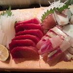 かわなみ鮨 - シロ烏賊、トロ、縞あじ、タコ(2010/10)