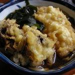手打ちそば 松月庵 - セットの温蕎麦は舞茸天ぷら入りでした
