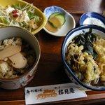 手打ちそば 松月庵 - 「松茸ご飯+そばセット」