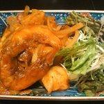 旬の魚と旨い地鶏 魚鶏屋 - エビのチリソース