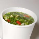 ハイナン焼きショーロンポー - 野菜や貝柱、高麗人参など17種の素材を8時間移譲煮込んだ薬膳スープ。