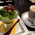 元町珈琲 - かき氷 京のしらべ&カフェオレ